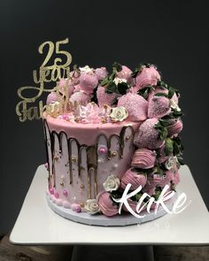 20 Amazing, Cool & Beautiful Birthday Cakes : Page 5 of 20 : Creative Vision Design Girly Cakes, Cute Cakes, Pretty Cakes, 25th Birthday Cakes, Birthday Cakes For Women, Grandma Birthday Cakes, Lemon And Coconut Cake, Blackberry Cake, Beautiful Birthday Cakes