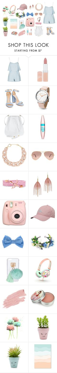 """""""Because I Love It"""" by flowerdreams on Polyvore featuring Rimmel, Maybelline, DIANA BROUSSARD, Ray-Ban, Serefina, Fujifilm, adidas, claire's, Ashlyn'd and Jane Iredale"""