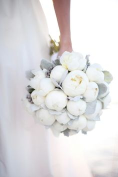 white peonies, dove grey