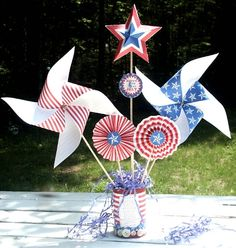 Patriotic Pinwheel (Printable 4th of July Activity for Kids) Comments | 4th of July Printables | FamilyFun
