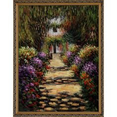 Garden Path at Giverny By Claude Monet Framed Print