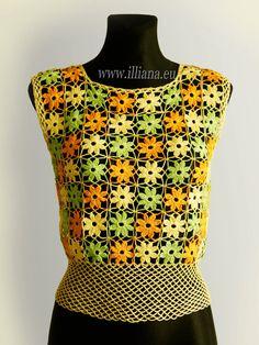 Crochet Patern . Blouse No 235 by Illiana on Etsy                                                                                                                                                                                 Mais
