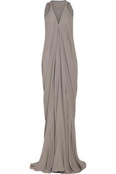 Rick Owens Aurora draped cady gown NET-A-PORTER.COM