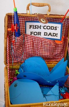 Father's Day fishing theme party - sweet idea for cards!