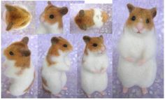 wool felted hamster | Found on blogs.yahoo.co.jp