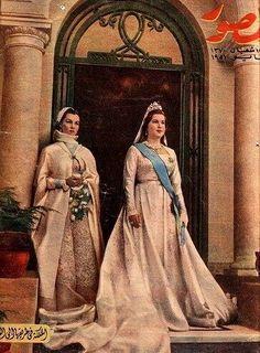 الملكة ناريمان والأميرة فوزية, Queen Nareeman and princess Fawzia