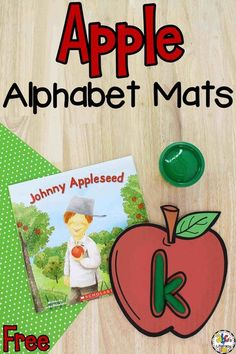Did you know that Johnny Appleseed Day is September 12th? Your kids can celebrate the holiday and practice their letter recognition with these fun Apple Alphabet Play Dough Mats! As as your kids squeeze, roll, and squish the play dough, they will also develop their fine motor skills and hand muscle strength.Click on the picture to get these free printable letter play dough mats for your preschoolers! #johnnyappleseedday #playdoughmats #letterrecognition #alphabetplaydoughmats #learningtheabcs