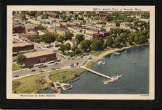 Bemidji Minnesota MN 1940s Aerial View