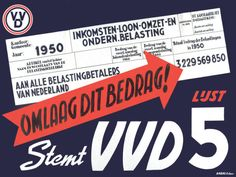 RT - #VVD wou in 1949 de #belasting omlaag brengen https://mulerius.ub.rug.nl/ui/item.php?id=932 #Vintage #Dutch #Political #Poster @VVD @markrutte @VVDGroningen