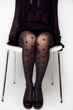 Add some charm in your outfit with this lovely pair of cuteness! Polka Dot Tights, Polka Dots, Nylons, Pretty Outfits, Cute Outfits, Cute Tights, Fashion Outfits, Womens Fashion, Fashion Ideas