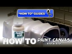 PAINTING CANVAS USING VALLEJO'S PANZER ACES ACRYLICS - YouTube
