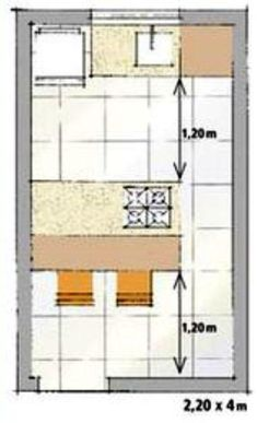 dimensoes cozinha com ilha Layout, Floor Plans, Kitchen, House, Modern Kitchens, Arquitetura, Projects, Houses, Kitchens