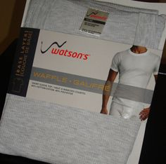 NEW Waffle Weave Top s/s Short Sleeve Thermal Shirt sz M L Watsons Gray PACKAGED #Watsons #ThermalTop