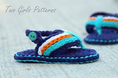 cd793d299 Ravelry  Sporty Flip Flop Baby Sandals for Boys and Girls pattern by Lorin  Jean Sapatos