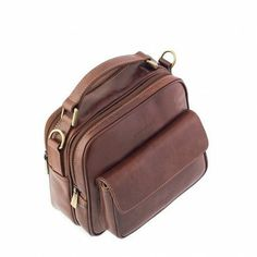 Chiarugi Italian Leather Grab Bag - Brown