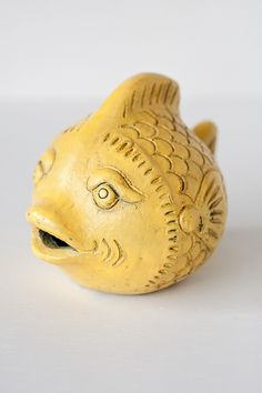 Clay Fish Home Décor in Yellow