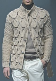 DecoriaLab : Cornelliani Fall 2013 Details Burberry Men, Gucci Men, Sweater Jacket, Men Sweater, Versace Men, Mens Jumpers, Sharp Dressed Man, Calvin Klein Men, Cool Sweaters