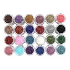 Voberry® 24 Colors DIY Spangle Glitter Nail Art Paillette Acrylic UV Powder Polish Tips Set Manicure Beauty Decorations (Multicolor) ** You can get additional details at the image link.