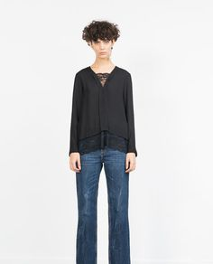 ZARA - NEW IN - COMBINED LACE TOP