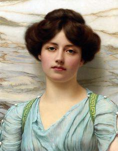 John William Godward (English, 1861-1922). Carina, 1910