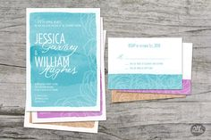 Mix And Match Watercolor Wedding Invitations by TwoPoundStudios, $3.50