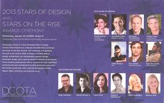 "Congratulations to designer, Gage Hartung, from Shuster Design Associates, on being named a ""2013 Stars on the Rise"" by the Design Center of the Americas.  Gage will receive this award during a ceremony spotlighting the best in Interior Design lateron January 2013 at the DCOTA. #InteriorDesign #Design #DCOTA"