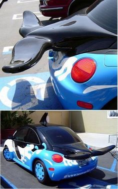Orca Volkswagen Beetle!!! I saw this @ SeaWorld!!! WANT!!!! :D <3<3<3