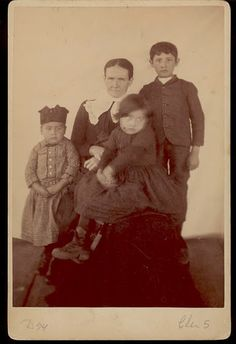 "Cherokee woman and her children - 1888, but no native names, ""English"" names, or location"