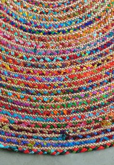 Round Colourful Rugs Home Decor