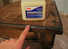 super awesome guide to DIY chalk paint   Vaseline painting technique