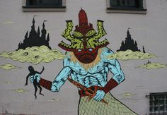 Mural by Skinner, Fillmore and Haight, Lower Haight - he is a 3d artist