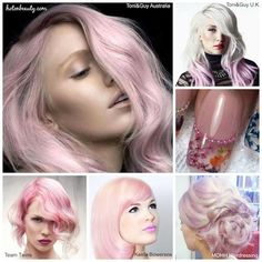 Pretty in Pink! Love all the pink hair color shades and beautiful nail art. hotonbeauty.com
