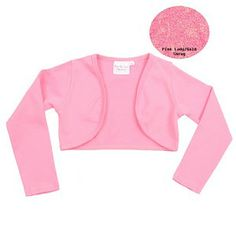 be5a93f471 Couture Little Girls Pink Soft Knit Bolero Shrug Jacket