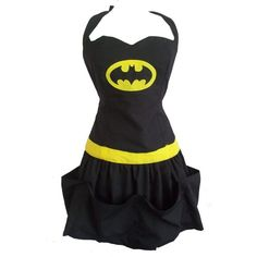 Batman Apron. If your halloween costume last year was any indication, then you need this @Amanda Snelson Snelson Watts