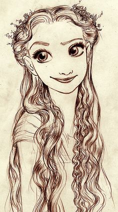 Early concept art for Rapunzel.