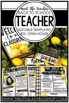 Easily introduce yourself to your students and their families with a Meet the Teacher letter with a lemon theme! These editable templates are so easy to use and include examples and ideas for you to get started. Once you're done editing, you can send use your Meet the Teacher page digitally or print it to send home. This is a must have for back to school night, open house, or the first day of school! #thelittleladybugshop