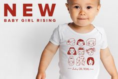 Baby onesie supporting education for girls