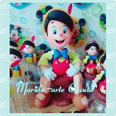 Pinocho caketopper Souvenirs caketopper porcelana fria dulceros mesadulce