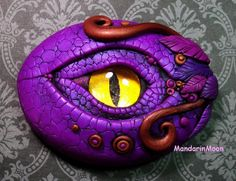 Purple and Bronze Dragon Eye Polymer Clay