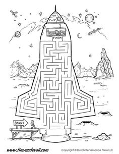 Rocket Ship Maze: Make your way up into the driver's seat of the space craft.