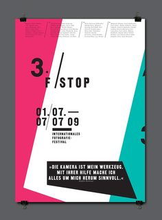 Poster by Florian Lamm #layout #colours