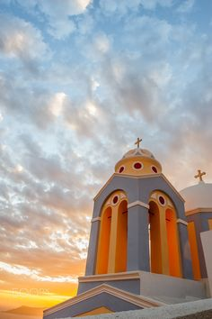 Sunset Church, Fira town, Santorini island, Greece. - Selected by www.oiamansion.com