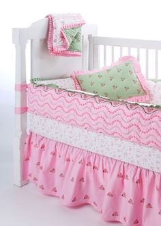 Bacati Summer Pink Crib Collection