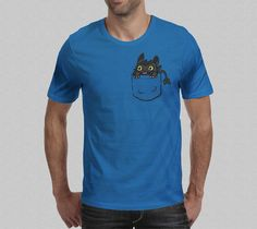 Pocket Toothless TShirt  How To Train Your Dragon by Yipptee, $27.00