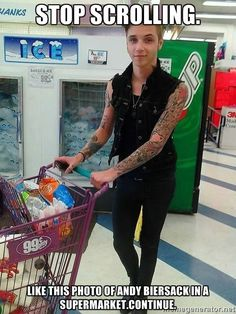 Even cute while shopping!) Andy Biersack BVB black veil brides>>>Seriously though, just imagine going out to the grocery store and seeing Andy. Andy Black, Andy Biersack, Jake Pitts, Vail Bride, Bvb Fan, Black Veil Brides Andy, Falling In Reverse, Band Memes, I Love Music