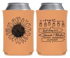 Wedding Can Coolers Beverage Insulators Koozies Personalized Wedding Favors…