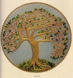 Beautiful goldwork tree - Customer Image Gallery for Beginner's Guide to Goldwork