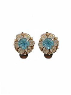Nancy rhinestone clip ons #vintage #rocknrose #earrings #bridal