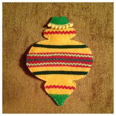 Felt vintage style ornament for kids felt christmas tree