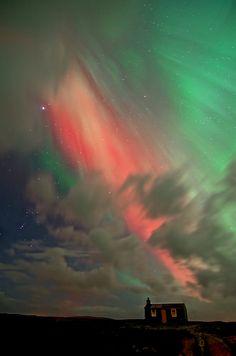 Aurora borealis, Isle of Lewis, 27th February 2014